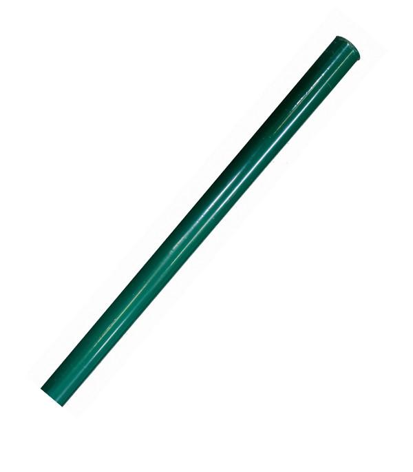 Столб круглый СІТКА ЗАХІД высота 2.5м диаметр 38мм цвет 6005 зелёный