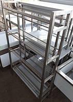 Сушка стеллаж для тарелок на 4 полки из нержавеющей стали, фото 1