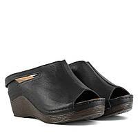 Сабо женские TRIO (кожаные, черного цвета, удобные)