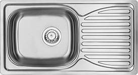 Кухонная мойка Deante DOPPIO 1-камерная оборотная, с крылом, сатина, 780х430х165 мм