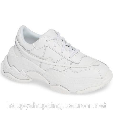 Женские оригинальные стильные кожаные белые кроссовки Jeffrey Campbell