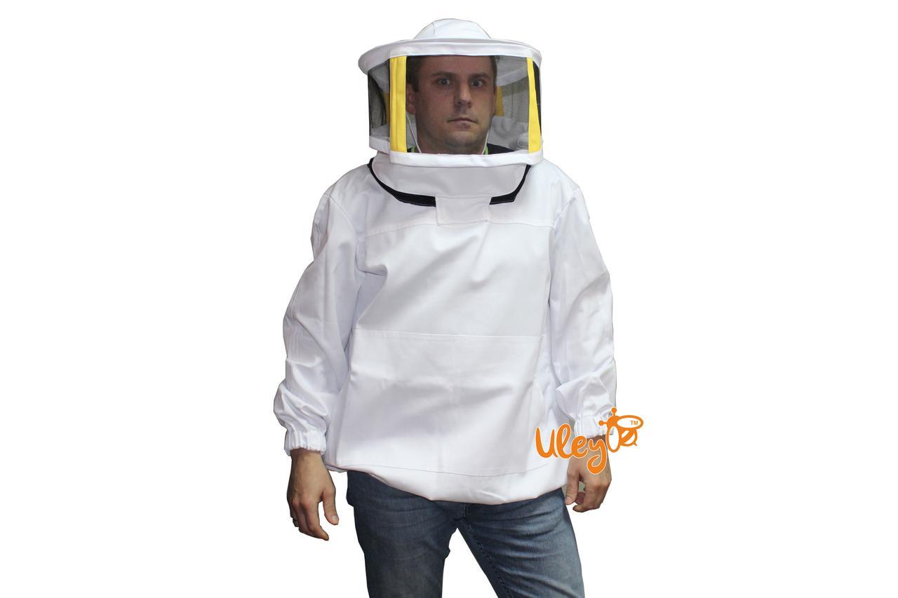 Куртка бджоляра коттон з маскою з металевою сіткою