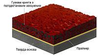 Бесшовное резиновое покрытие для спортивных площадок / безшовне гумове покриття для спортивних майданчиків