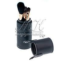 """Профессиональный набор кистей для макияжа в тубусе""""MAC"""", 8шт, черный"""