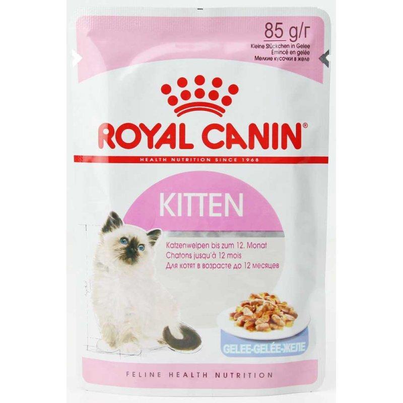 Вологий корм Royal Canin Kitten Instinctive для кошенят (желе), 0,085 КГ 12шт