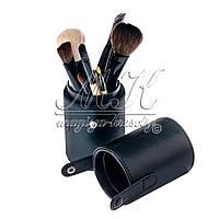 """Профессиональный набор кистей для макияжа в тубусе """"BOBBI BROWN"""", 12шт, черный"""