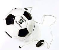 М'яч футбольний № 3, тренувальний футбольний тренажер з кріпленням до пояса, фото 1