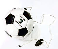 Мяч футбольный № 3, тренировочный футбольный тренажер с креплением к поясу