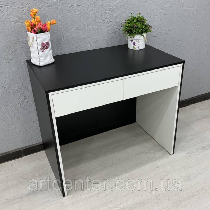 Стол двухцветный черно-белый для парикмахера, визажиста