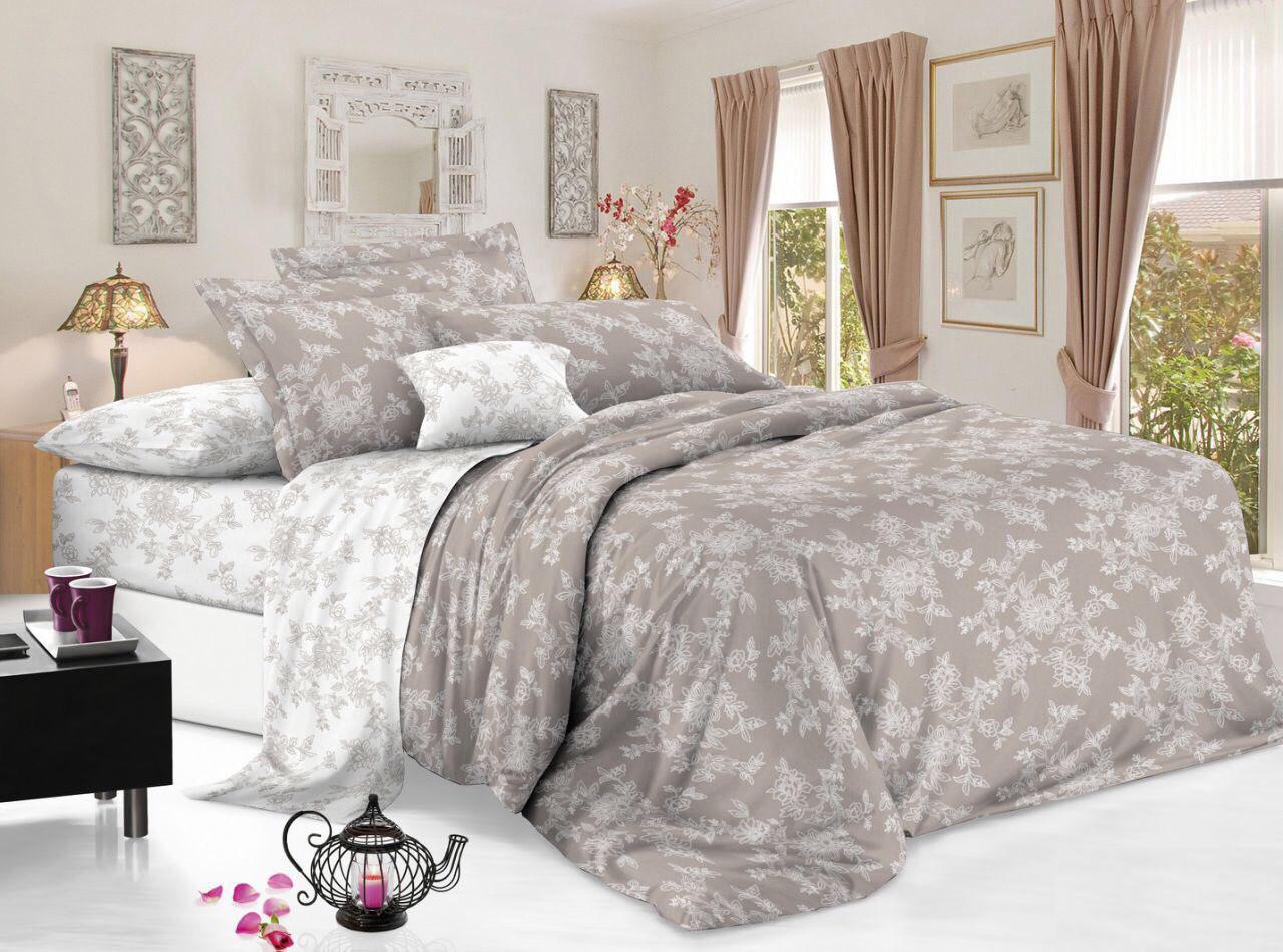 Полуторный комплект постельного белья 150*220 сатин (11875) TM КРИСПОЛ Украина