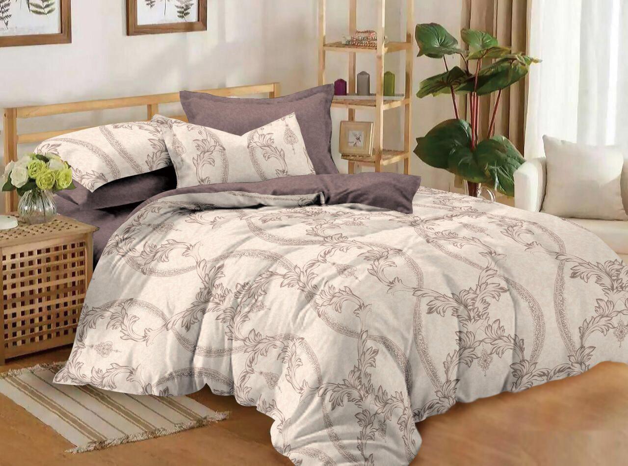 Двуспальный комплект постельного белья 180*220 сатин (11893) TM КРИСПОЛ Украина