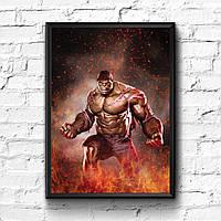 Постер с рамкой Hulk, Marvel #3