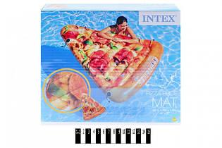 Пляжный надувной матрас - плотик Intex 58752 «Пицца», интекс 175 х 145 см