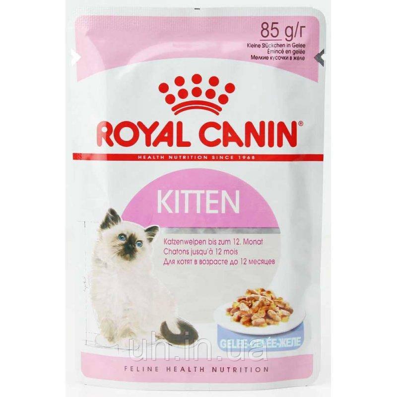 Royal Canin Kitten Intensive вологий корм для кошенят у віці 4-12 місяців в желе 0,085 КГ 12шт