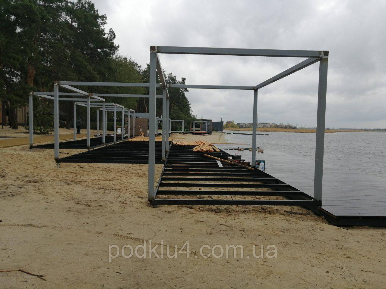 Изготовление береговых площадок и пергол