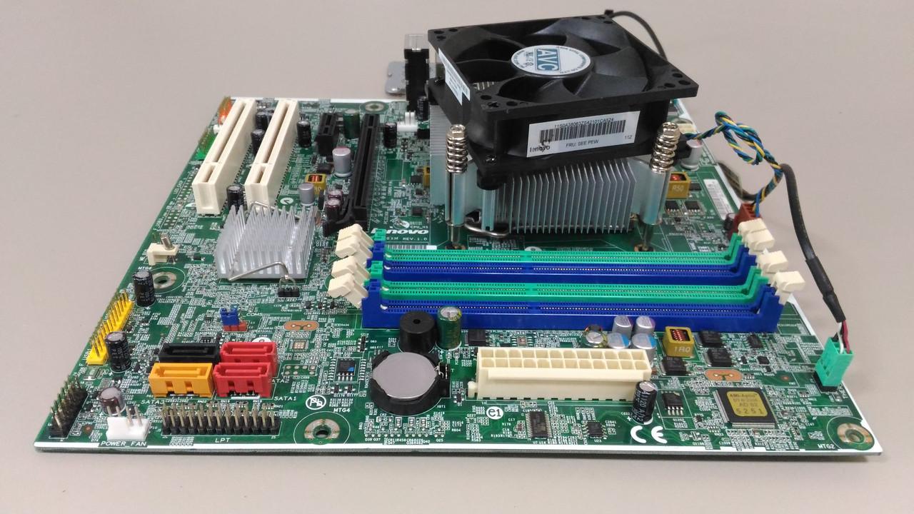 Материнская плата Lenovo IS6XM s1155 + система охлаждения.