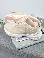 Кроссовки женские Nike М2K Tekno бежевые ТОП реплика