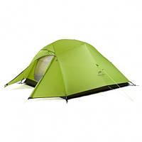 Палатка трехместная Naturehike Cloud Up 3x с алюминиевыми дугами зеленая