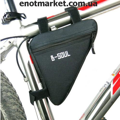 """Велосумка """"B-SOUL"""" треугольная черного цвета"""