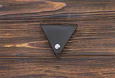 Монетница ручной работы из кожи Краст VOILE cn1-kbrn, фото 3