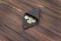 Монетница ручной работы из кожи Краст VOILE cn1-kbrn, фото 2