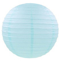 Украшения для праздников шар плиссе 35 см нежно голубой