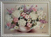 Белые пионы картина маслом, фото 1