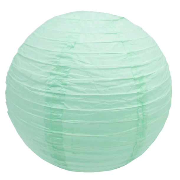 Праздничный декор шар плиссе 35 см мятный