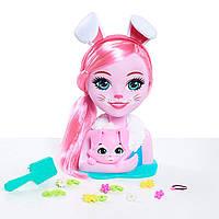 Кукла Голова манекен для причесок Бри Кроля кролик Энчантималс 25 см Enchantimals Bree Bunny Styling Head