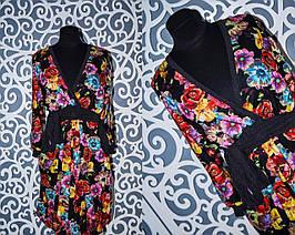 Женское платье с пришитым поясом 44, 46  размер норма