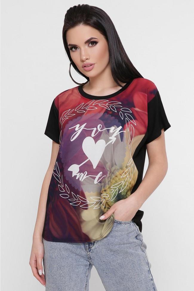 """Жіноча футболка з романтичним принтом """"Air"""""""