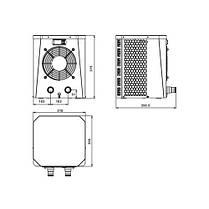 Тепловой насос для бассейна Fairland XP025 (тепло, 2.5 кВт) для саун, СПА, каркасных бассейнов, фото 3