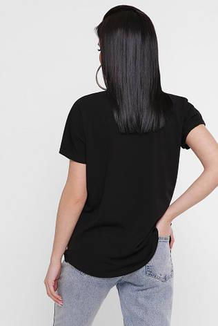 """Женская черная футболка с красивым принтом """"Air"""", фото 2"""