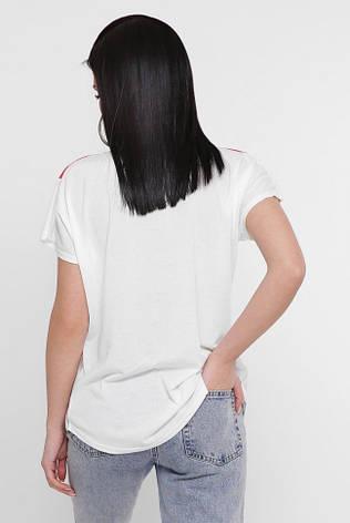 """Красивая женская футболка с принтом Цветы """"Air"""", фото 2"""