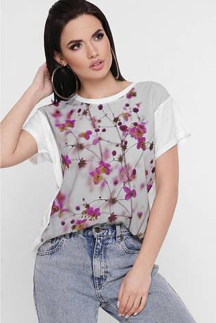 """Женская футболка """"Air"""" с красивым принтом Цветы, фото 2"""