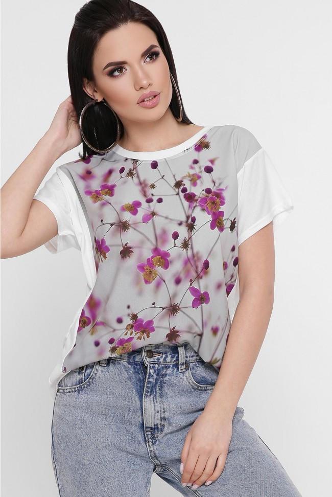 """Женская футболка """"Air"""" с красивым принтом Цветы"""