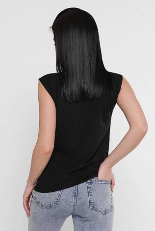 """Женская летняя футболка без рукавов """"Classic"""" с принтом, фото 2"""