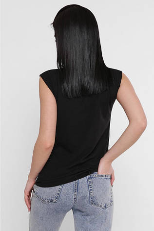 """Жіноча футболка без рукавів """"Classic"""" з річним принтом, фото 2"""