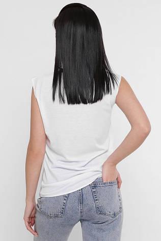 """Яскрава жіноча футболка з принтом без рукавів """"Classic"""", фото 2"""