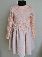 Нарядное детское платье с кофточкой для девочки 122 размер, фото 1
