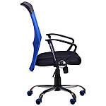 Кресло АЭРО HB Line Color сиденье Сетка чёрная,Неаполь N-20/спинка Сетка синяя, вставка Неаполь N-20, фото 2