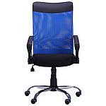 Кресло АЭРО HB Line Color сиденье Сетка чёрная,Неаполь N-20/спинка Сетка синяя, вставка Неаполь N-20, фото 4