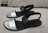 46fd962fe Женские модные стильные босоножки итальянская кожа серебро