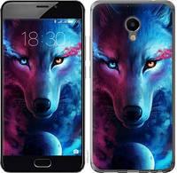 Чехол EndorPhone на Meizu M3e Арт-волк (3999u-607)