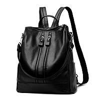 Женский городской рюкзак - сумка. Стильные женские рюкзаки в четырех цветах: красный, черный, бежевый, синий., фото 1
