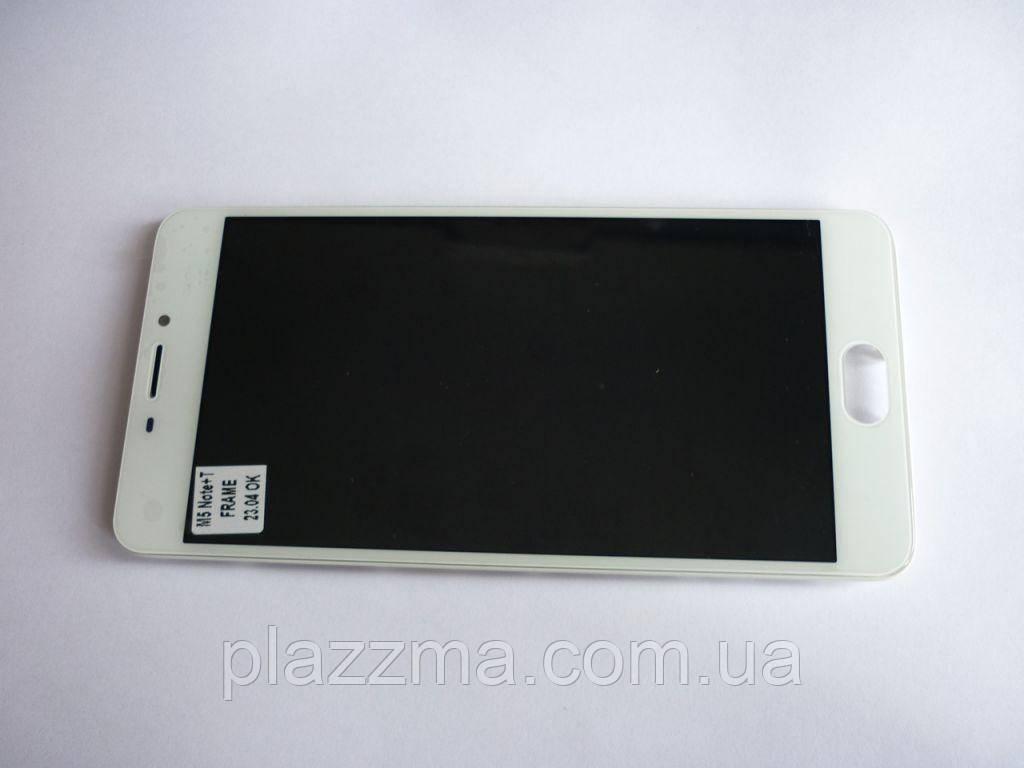 Дисплей Meizu M5 Note с тачскрином в сборе, с рамкой, цвет white, prc
