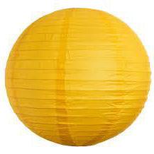 Паперові кулі плісе 40 см сонячний