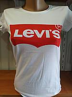 Футболка женская в стиле Levi's Турция р. С-М, фото 1