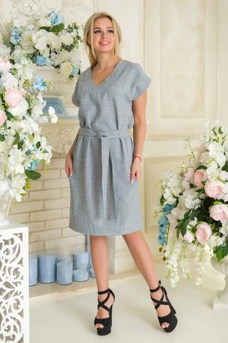 Платье летнее Пронто АПП 0134 серый