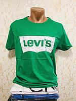 Футболка мужская хлопок с принтом 3D Levi`s - Турция размер M - 2XL(46-52) Ростовка